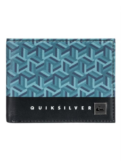 QUIKSILVER MENS WALLET.FRESHNESS FAUX LEATHER BLUE MONEY CARD PURSE 8W 561 BPHO